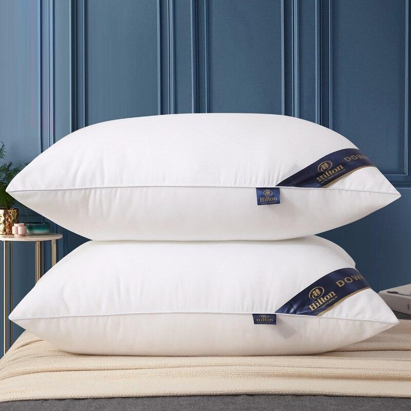 وسادة فندق هيلتون الأعلى مبيعًا وسادة أساسية ذات لون نقي من فئة الخمس نجوم وسادة عالية الجودة وسادة أساسية لغرفة النوم المنزلية