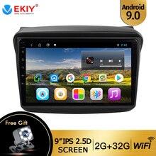 EKIY-lecteur multimédia de voiture 2 pouces   Android 9.0, 9 pouces, Radio GPS de voiture pour MITSUBISHI PAJERO Sport/L200/2006 + Triton/2008 + PAJERO 2010