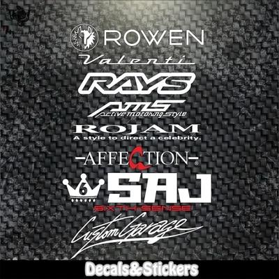 N. ° L074 ROWEN RAYS AMS letras 3M pegatinas reflectantes MOTO GP pegatina de vidrio calcomanías impermeables Racing motocicleta