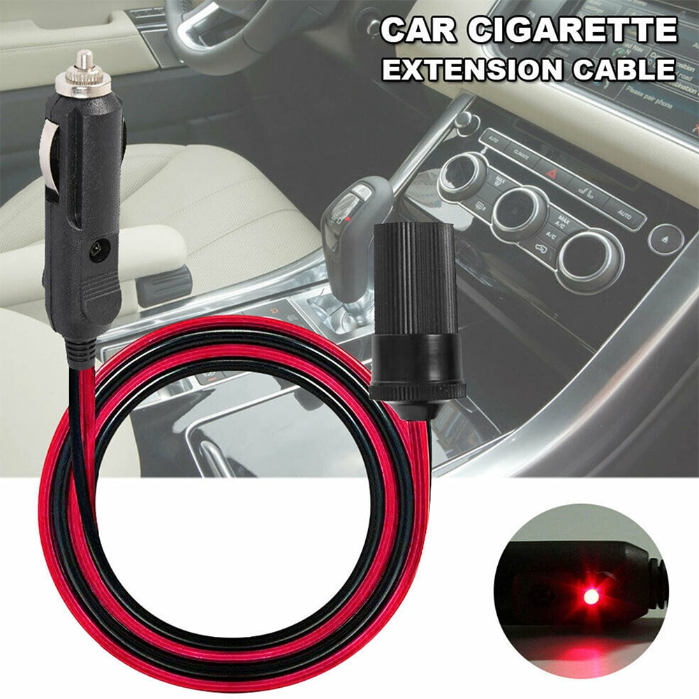 5M 12V Car Extension Cable for Cigarette Lighter Male and Female Socket Cord Adapter