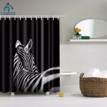 Salle de bain rideau de douche animaux éléphant cheval cerf zèbre oiseau tissu imperméable Polyester salle de bain rideau avec crochets 180X180cm