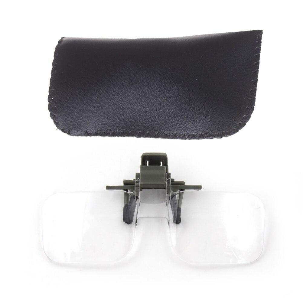 1 шт. лупы клип на очки с сумкой увеличительное очки инструмент для ремонта часов
