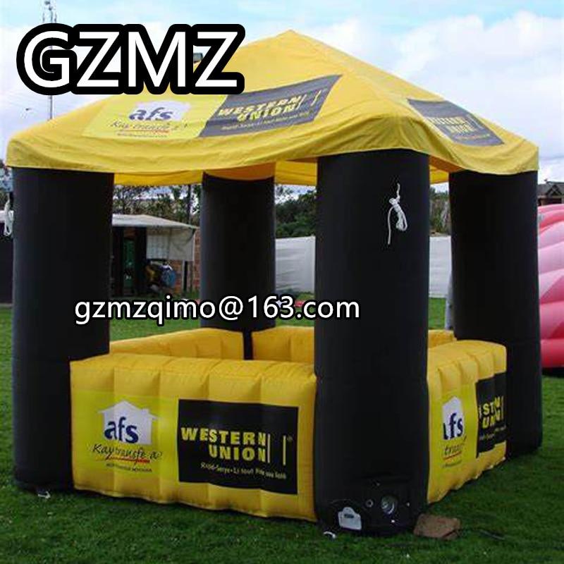 Soporte de cabina de comida inflable personalizado MZQM tienda pop up puesto inflable para la decoración del día de Navidad
