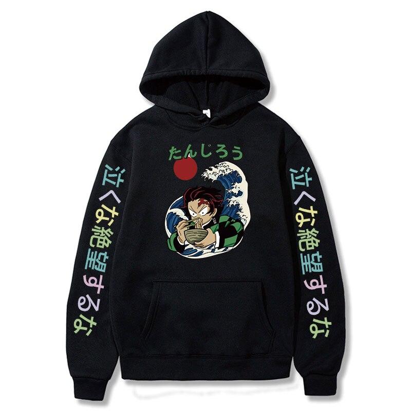 2021 Janpanese Anime Demon Slayer Nezuko Hoodie men Korea Sweatshirts Kawaii streetwear katana