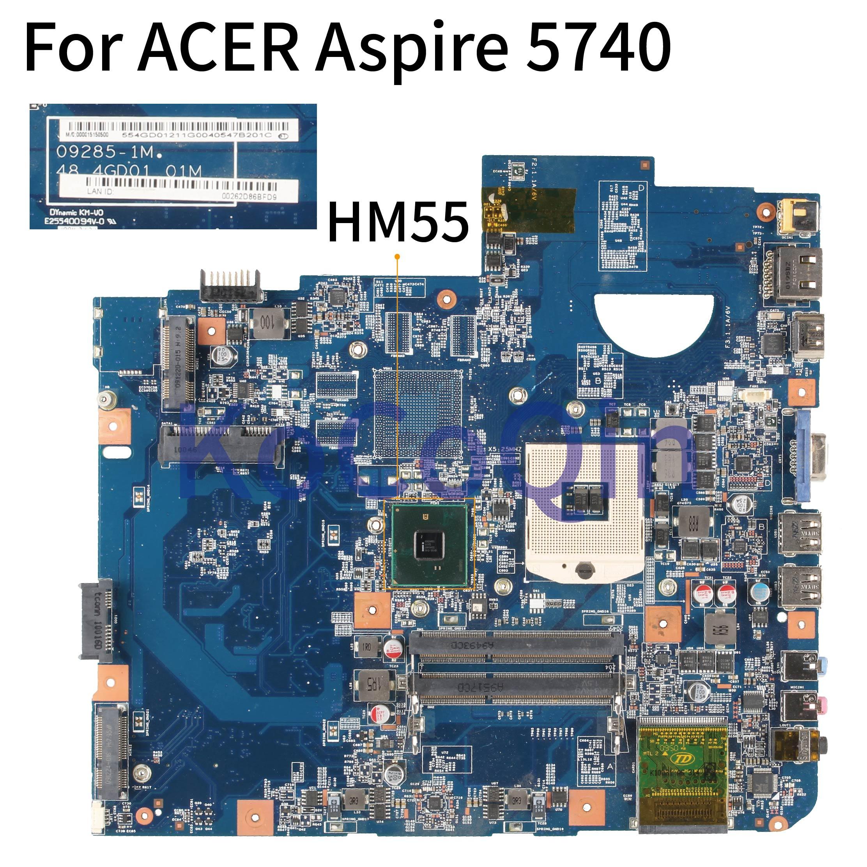 KoCoQin اللوحة لابتوب أيسر أسباير 5740 5740G HM55 اللوحة 48.4GD01.01M JV50-CP MB 09285-1M