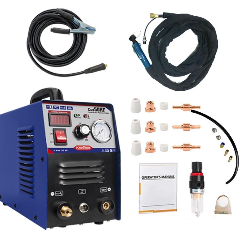 IGBT Plasma Cutter CUT50 Air Digital Inverter 110/220V Dual Voltage Hand Air Plasma Cutting Machine Clean Cutting Thickness 12mm