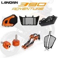 for 390 adventure motorcycle accessories kickstand levers radiator cover headlight protector 390 adv adventure 2019 2020 2021