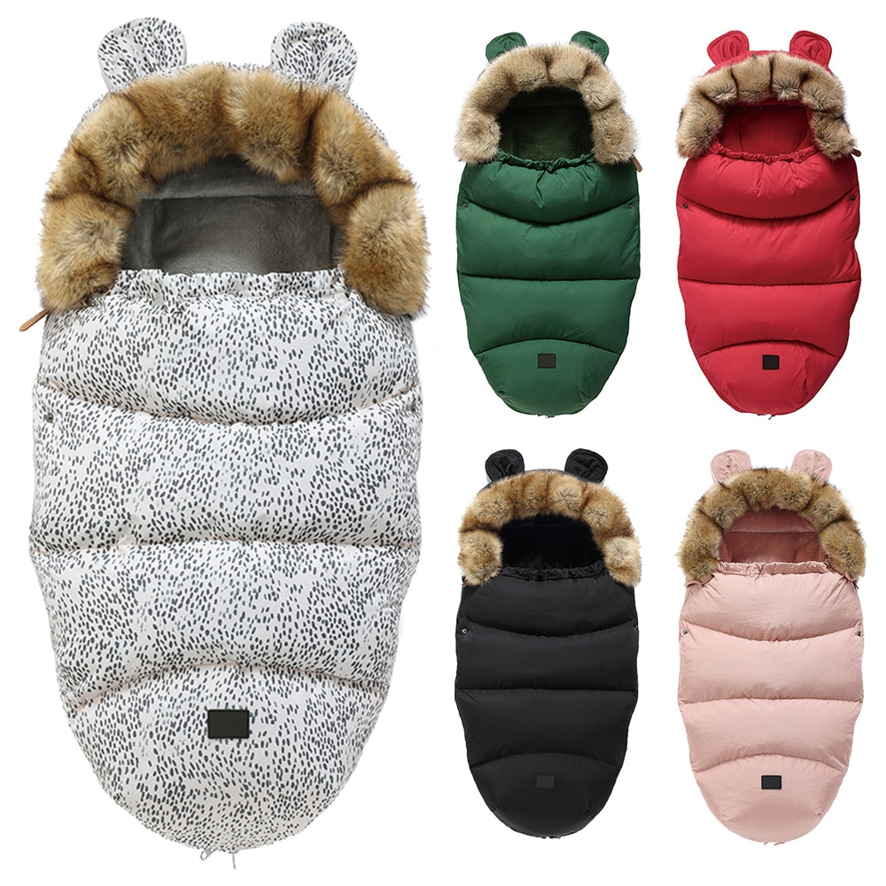 Saco de dormir para bebé, saco de dormir para recién nacidos, saco de bebé, saco de dormir con capucha con orejas bonitas, saco de dormir de invierno cálido para bebé