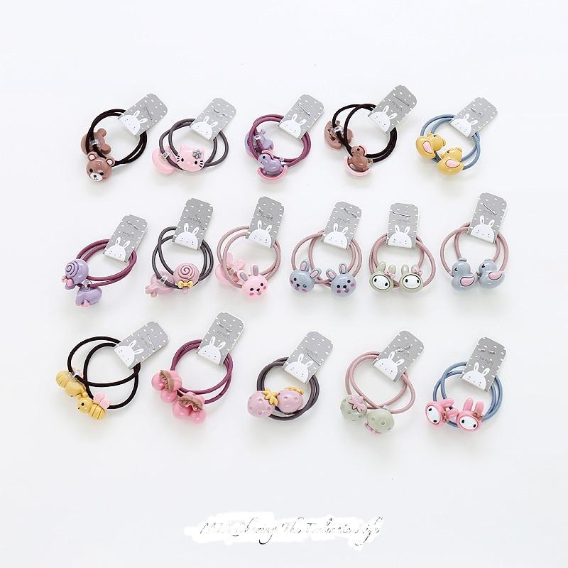 2 uds. Nuevos accesorios para el pelo de princesa, bonitos dibujos de cereza roja, bandas elásticas para el pelo de los niños, cuerdas, accesorios para niñas, tocado para bebé