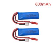 7.4V 600mAh 20C Lipo Battery for WLtoys K969 K979 K989 K999 P929 P939 RC Car Parts 2s 7.4v Battery 2