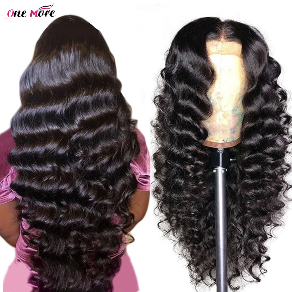 Loose Deep Wave Wig 13x6x1 Pre Plucked Lace Front Human Hair Wigs For Women Transparent Lace Wig Brazilian Loose Wave Wig 180%