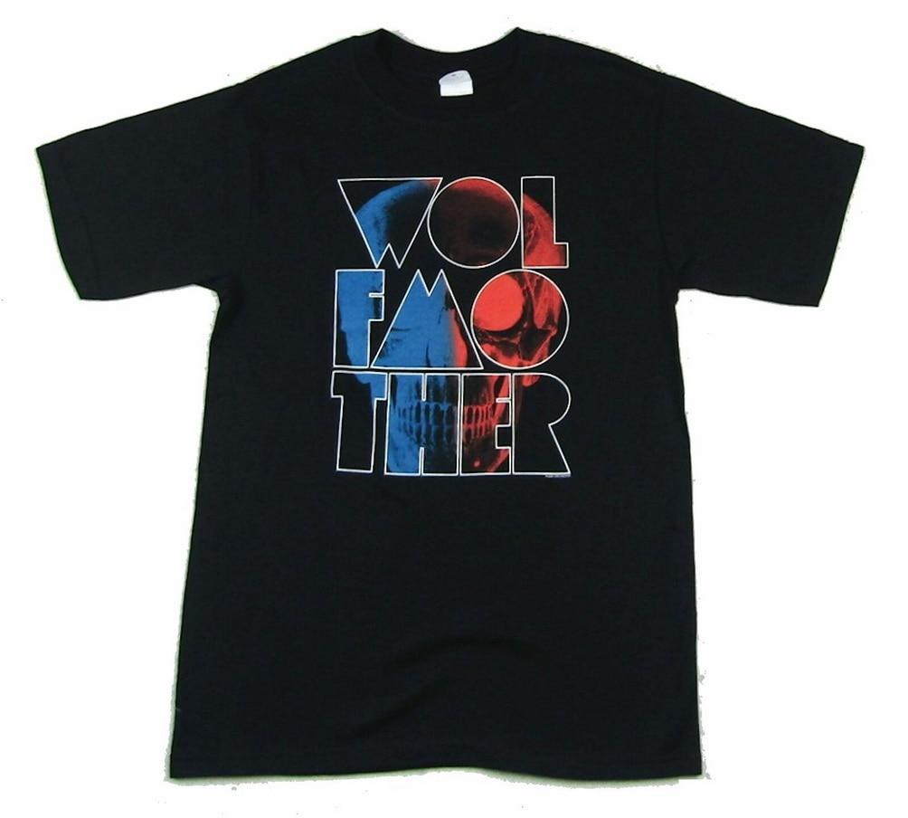 Wolfmother calavera Logo negro camiseta nueva banda Merch Streetwear Casual camiseta