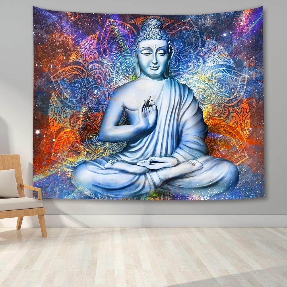 МАНДАЛА ГОБЕЛЕН настенный гобелены с Буддой в богемном стиле Wall Art Для Спальня Колледж Общагу бохо стиле