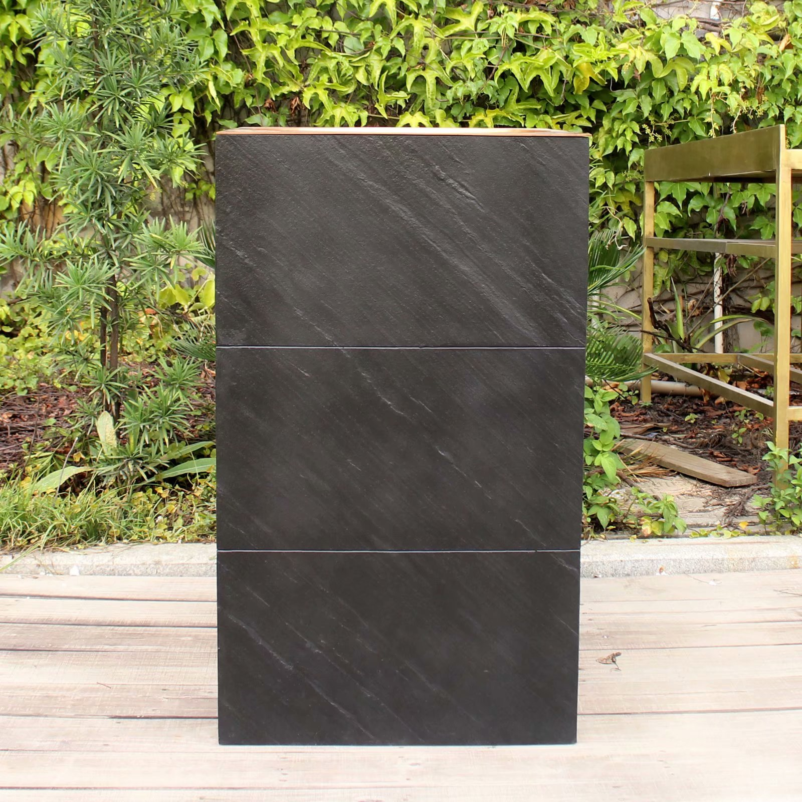 Lavabo de pilar de cobre de estilo europeo, pilar integrado, tabla de...