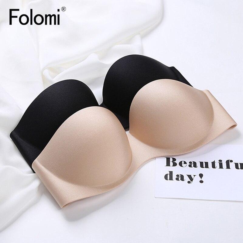 Sexy Demi Invisible Bras for Women Push Up Strapless Bra Dress Wedding Backless Brassiere Underwear