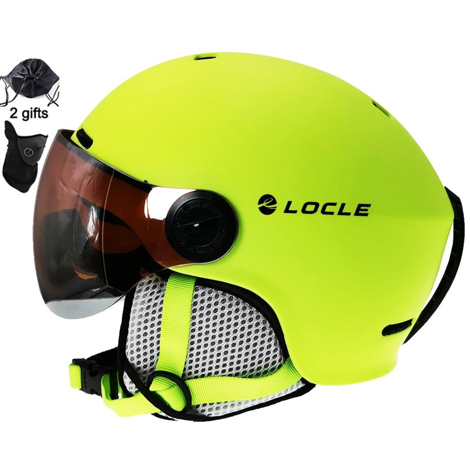 LOCLE Skiing Helmet Ultralight PC+EPS CE EN1077 Men Women Ski Helmet Outdoor Sports Snowboard/Skateboard Helmet