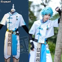 anime genshin impact chongyun game suit white uniform cosplay costume halloween outfit for men new 2020