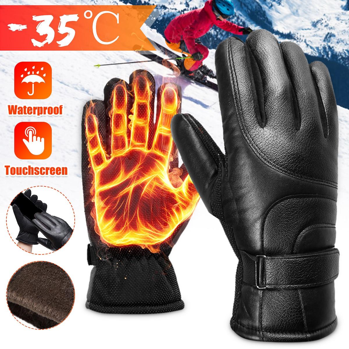 Guantes de Moto para hombre, Guantes de Moto de carreras para hombre, Guantes de Moto para Motocross, Guantes Térmicos cálidos para invierno para ciclismo, Guantes de dedos completos