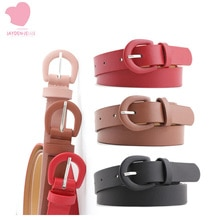 New solid color ladies matte PU small belt elegant and versatile wild pin buckle decoration jeans 3.