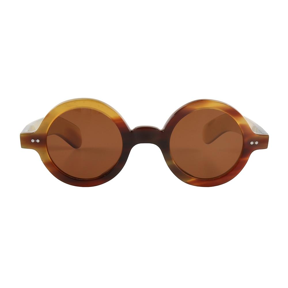 نظارة شمسية مستقطبة ، إطار نظارة شمسية ريترو ، صدفة سلحفاة ، ملونة ، مسامير مصنوعة يدويًا ، مزينة ، بوق عريض وسميك