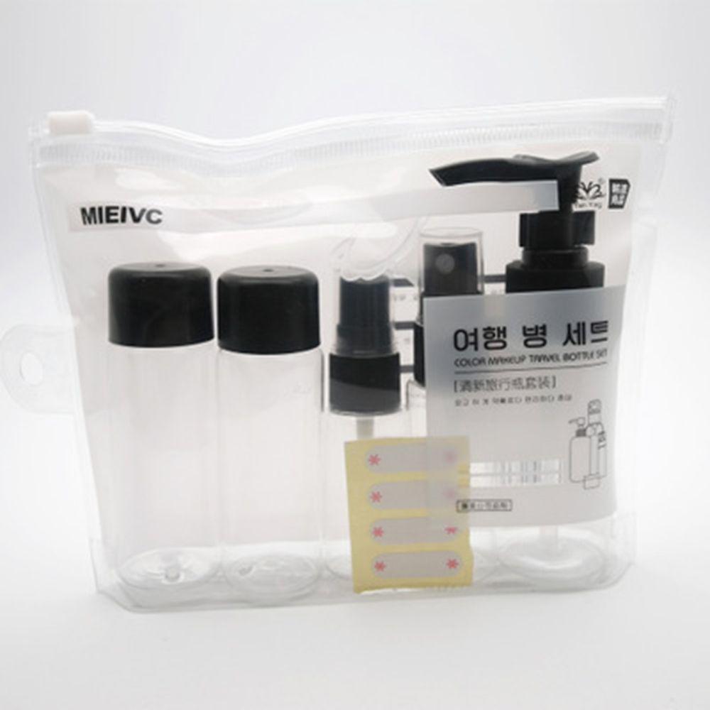 7 pçs/set kit de viagem plasic transparente portátil compõem garrafa spray garrafas recarregáveis garrafas cosméticos