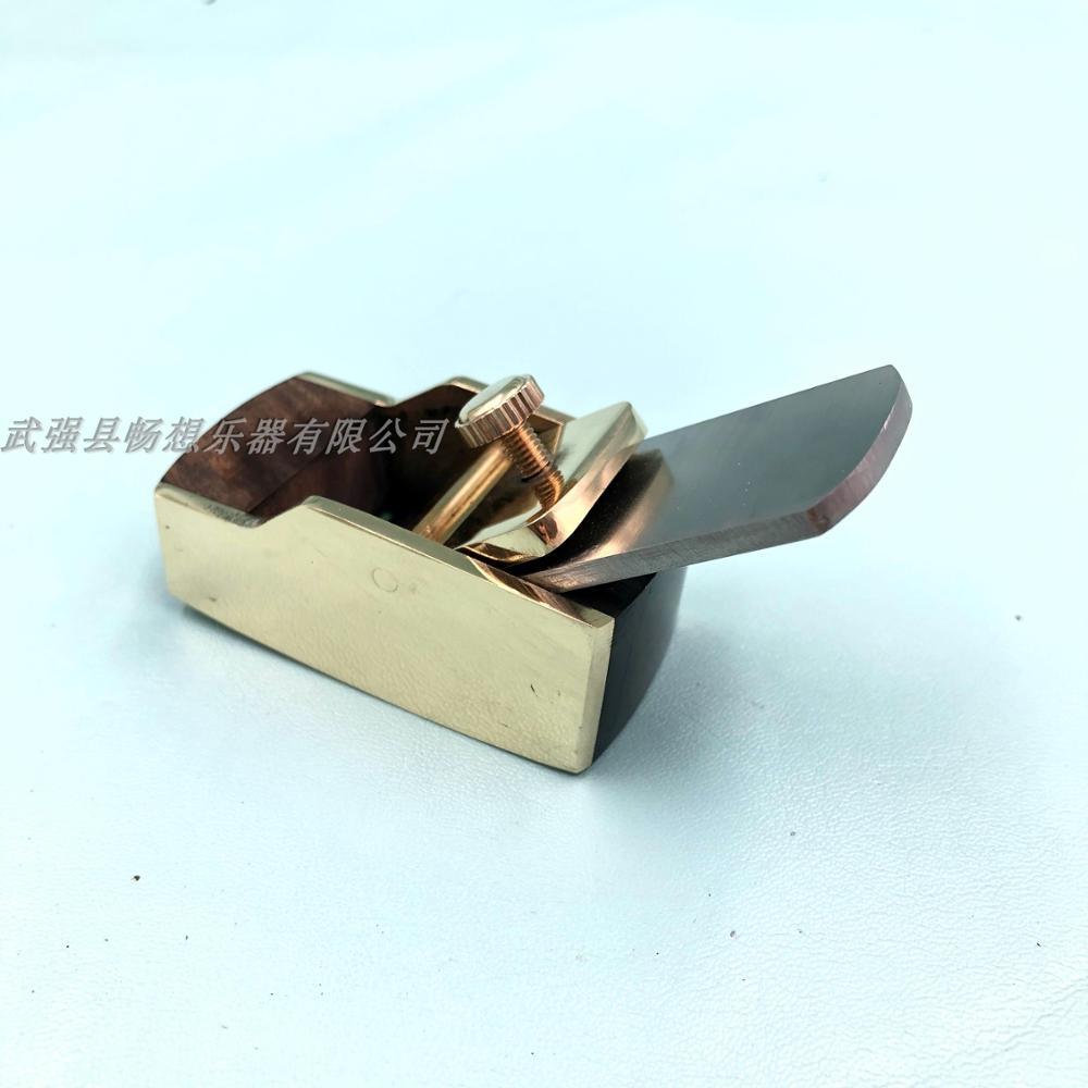 4pcs smooth convex bottom brass wrap blackwood planes ,violin/viola making tool enlarge