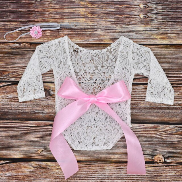 Baby Romper Deep V Backless Clothes Newborn Photo Photograph Lace Toddler Hollow Design Clothing 10