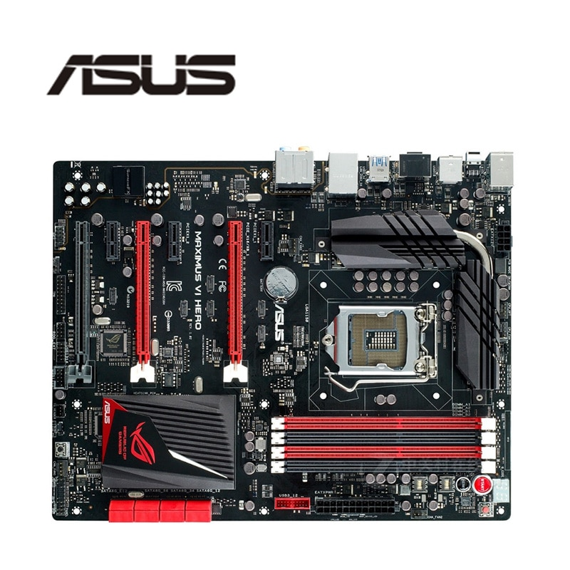 Para Asus Maximus VI Herói Z87 Z87M Desktop Motherboard LGA 1150 Para Core i7 i5 i3 DDR3 SATA3 USB3.0 Original usado Mainboard