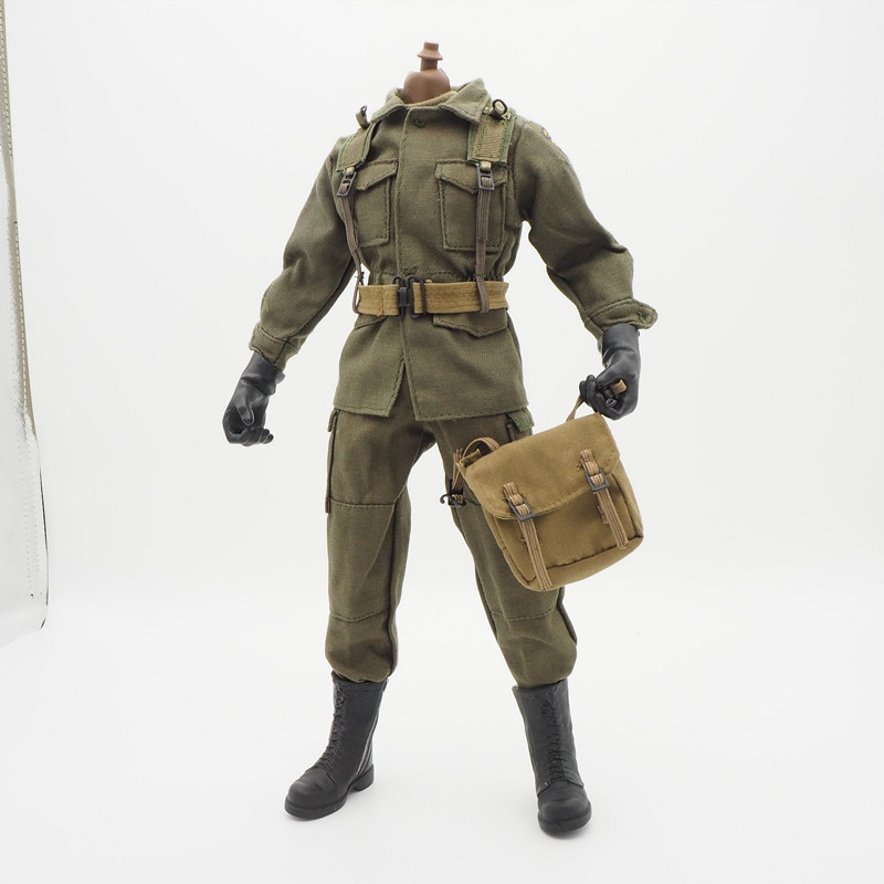 1 6 sexy female clothes set ft001 zipper bundle leather underwear clothes socks shoes for 12 action figure without head body m3 1/6 Scale Accessories Female Clothes Olive WWII Airborne set Soldier Uniforms For 12 Male Military Action Figure Body