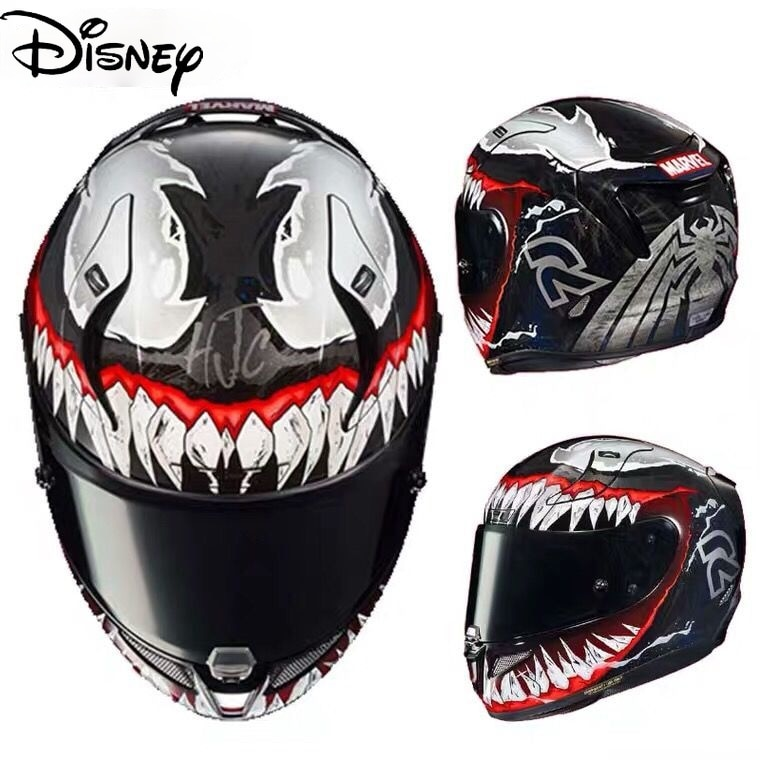 Disney Marvel Venom Helmet One or Three Generations Motorcycle Racing Competitive Protection Four Seasons Cool Safety Helmet