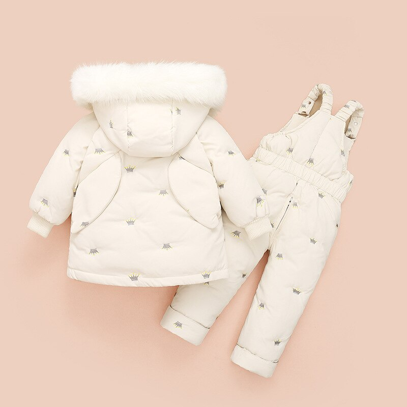 Winter Children Clothing Set Baby Girl Clothes Warm Down Jacket Coat Jumpsuit Snowsuit Kids Parka Duck Down Overalls Overcoat