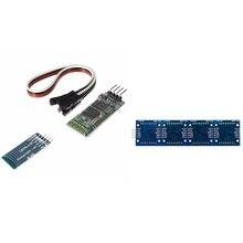 Blau 4 Pin HC-06 RS232 Drahtlose Bluetooth RF 5V Transceiver Modul & MAX7219 Mikrocontroller Linie Dot Matrix Modul