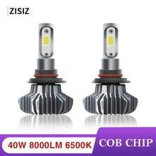 Hot Sale Mini H4 LED H1 H3 H7 H11 9005 9006 COB Chip Bulb Canbus Car Headlight 40W 8000LM 6500K 24V Led Fog Lamp 12V automotivo