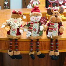 Navidad sentado muñeca ornamento Festival Fiesta Mesa decoración Santa Elk muñeco de nieve