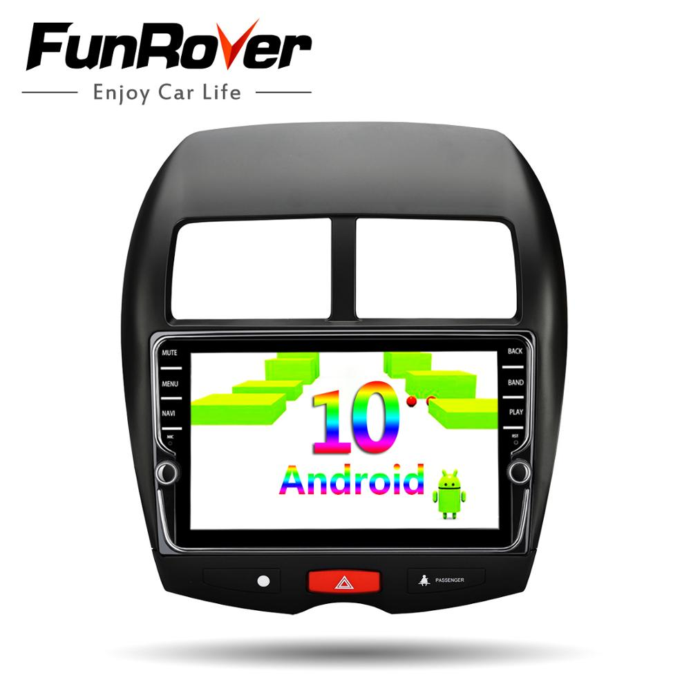 Funrover android 10.0 Autoradio pour ASX 4008 CCitroen C4 Autoradio croisé multimédia GPS No 2din 2 din dvd DSP 4G 64G ROM 8 cœurs