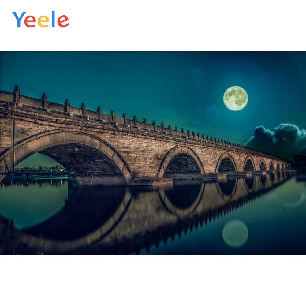 Fondo fotográfico de vinilo personalizado Yeele paisaje natural vista nocturna Fondo fotófono telón de fondo para fotomatón para foto s