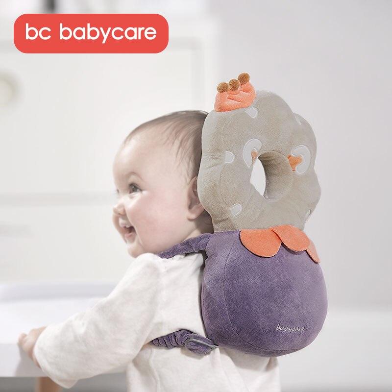 Bc babycare algodão cabeça do bebê proteção travesseiro infantil anti-queda ajustável macio travesseiro da criança almofada protetora do bebê cuidado seguro