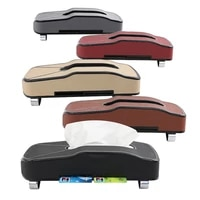 car hanging type tissue box leather drawer carton car creative multifunctional paper towel drawer card inserter car accessories