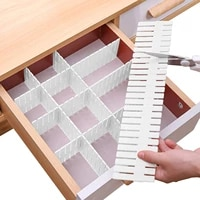 12 pcs drawer dividers adjustable drawer organizer for socks underwear makeup kitchen bedroom dresser white