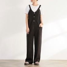 Jumpsuit Doresuwe Trousers With Pockets Plain Casual Ladies Fashion Wearable All-in-one Overalls 202