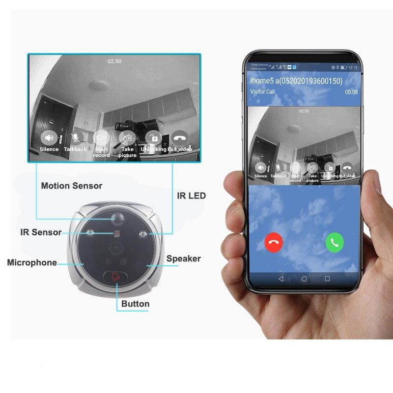 Topvico Peephole Door Camera Wifi Doorbell Video 4