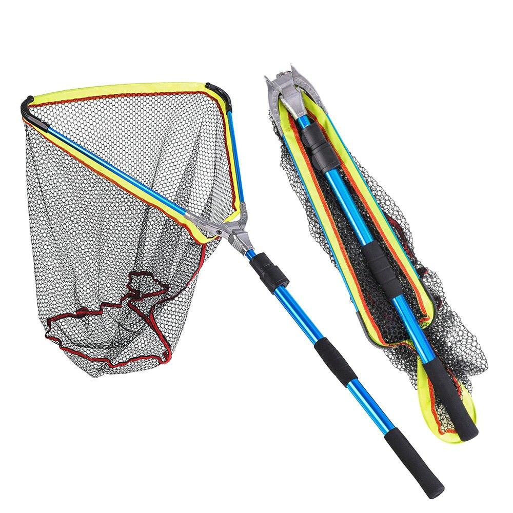 Red de pesca de aleación de aluminio 2M telescópico plegable de red de aterrizaje palo retráctil para equipo de pesca de carpa