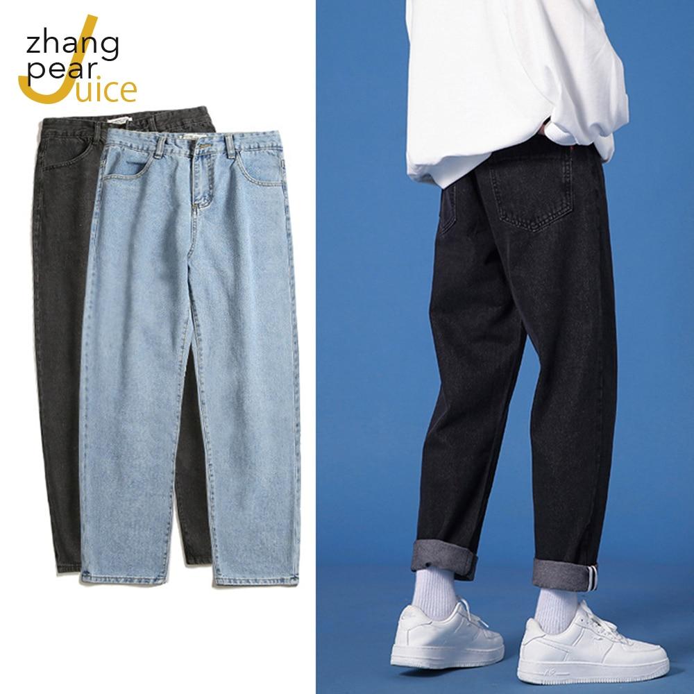 Мужские Весенние Новые корейские хлопковые брюки мужские ретро Молодежные повседневные джинсы для мужчин