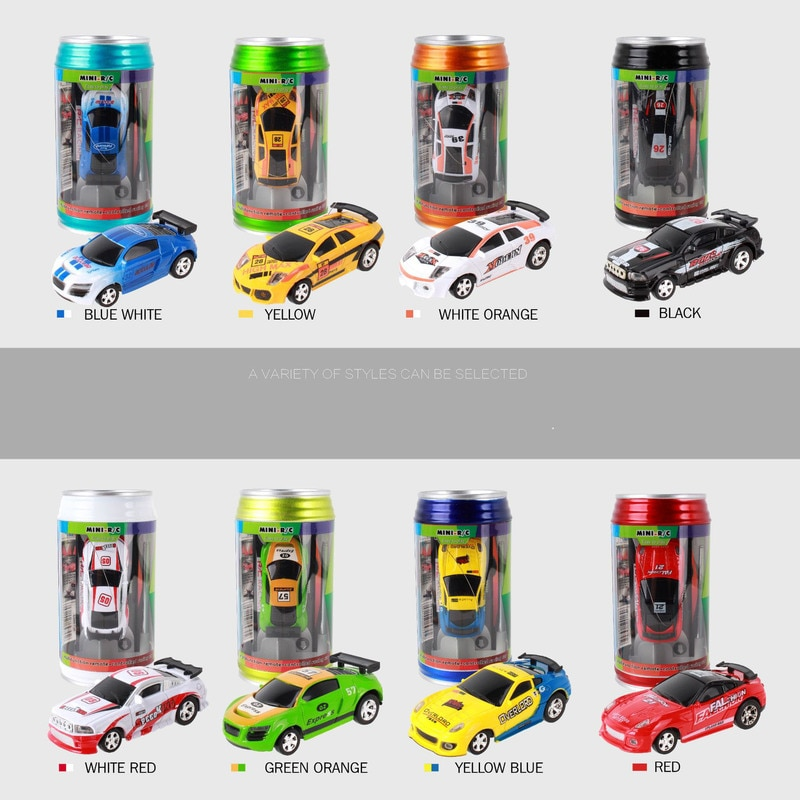 1:64 Mini Canned Rc Cars Speed Racing Electric Four-way Model Racing Control Remoto Toy Car enlarge