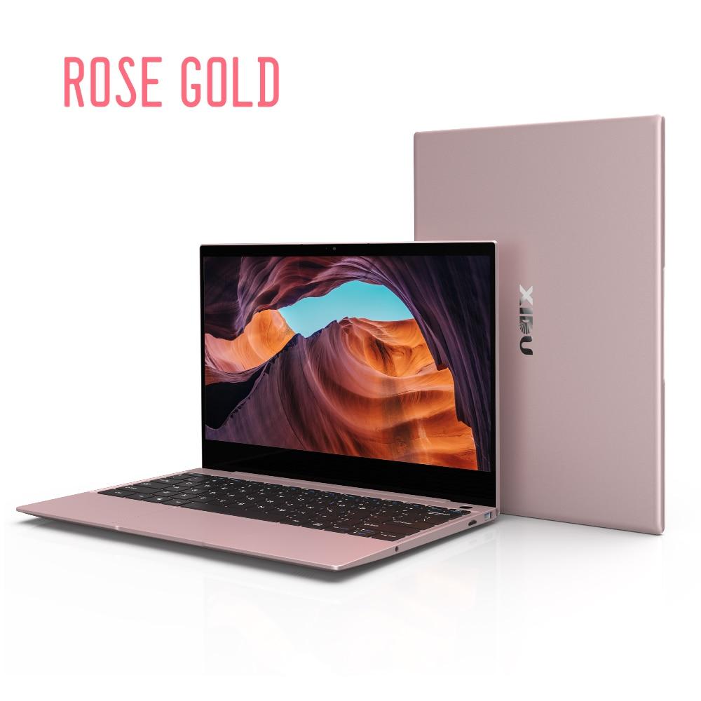 Get XIDU Rose Gold 12.5 Inch 2560*1440 IPS Screen Intel Celeron 3867U Processor DDR3 8GB 128GB SSD Windows 10 Laptop For Business