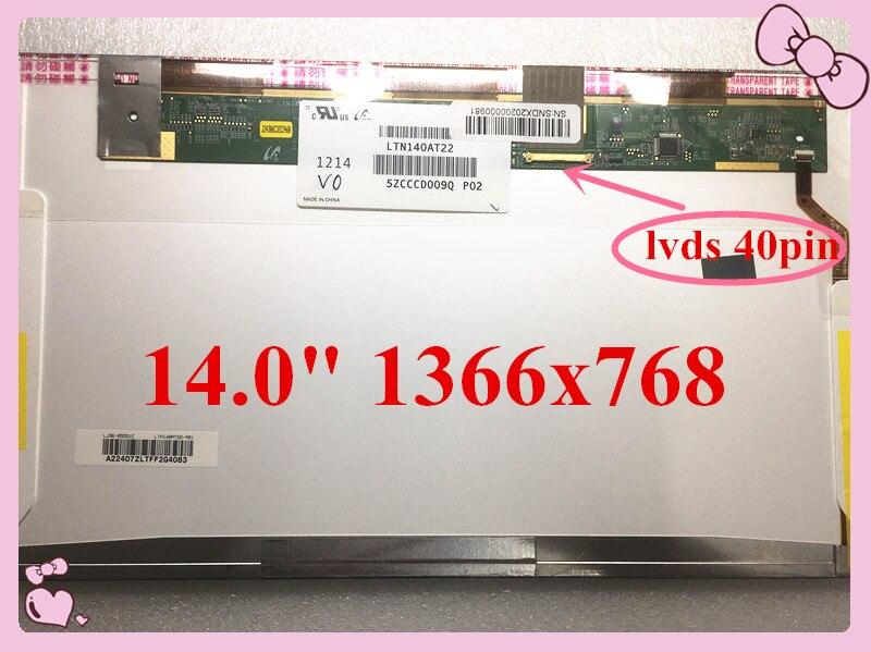 """Frete grátis 14 """"hd N140BGE-L23 N140BGE L23 L22 L21 L11 N140BGE-L12 BT140GW01 LP140WH1 TLA1 LTN140AT02 B140XW01 V.8 V.9 40 Pinos"""