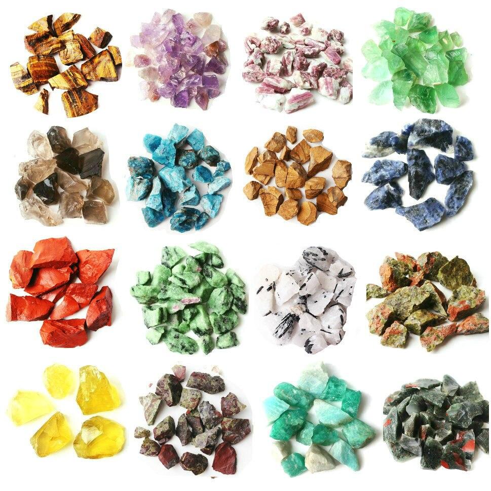 1 lote/100g de cristal de roca Natural piedra áspera investigación científico espécimen Mineral colorido cuarzo curación decoración Reiki curación