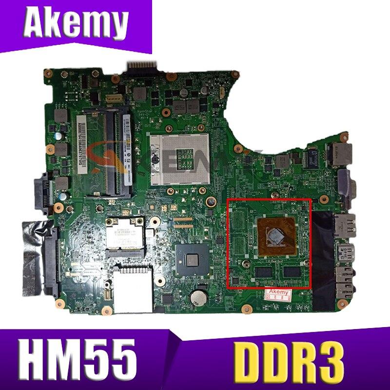AKEMY لوحة رئيسية A000076410 dpl 6dmb8f0 لتوتوشيبا الأقمار الصناعية L655 اللوحة الأم للجهاز المحمول HM55 DDR3 اختبار كامل