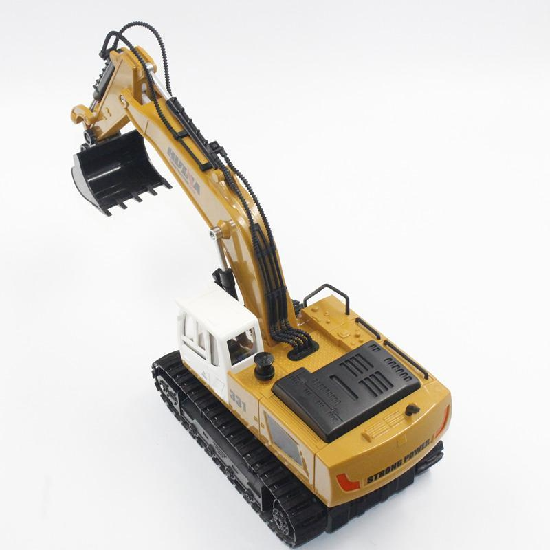 Genuine Huina 1331 1/18 2.4g Rc Chargable hydraulic Electric Excavator RC Truck Model Engineering Digging Toys for Boys Gift X19 enlarge