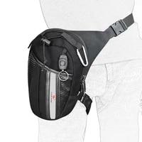 wosawe 3l capacity reflective motorcycle drop leg bags road motocross mtb racing phone mobile pockets moto waist thigh handbag
